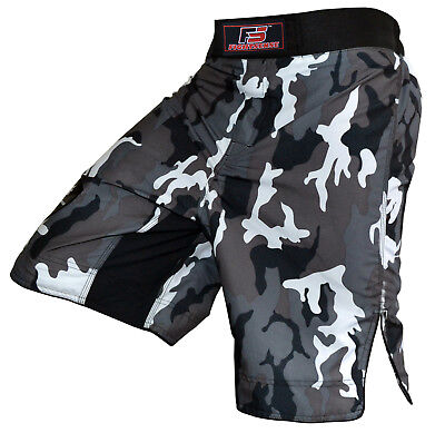 FS MMA Fight Kick Boxing Shorts UFC Cage Fight Grappling Muay Thai Boxing New Gray Fight Shorts