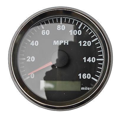 GPS MPH Speedometer Gauge Odometer Black Background For ATV UTV Motorcycle Marin