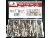 NEW 555pc Cotter Pin Assortment Clip Key Large Industrial w// Case SHIP SAME DAY