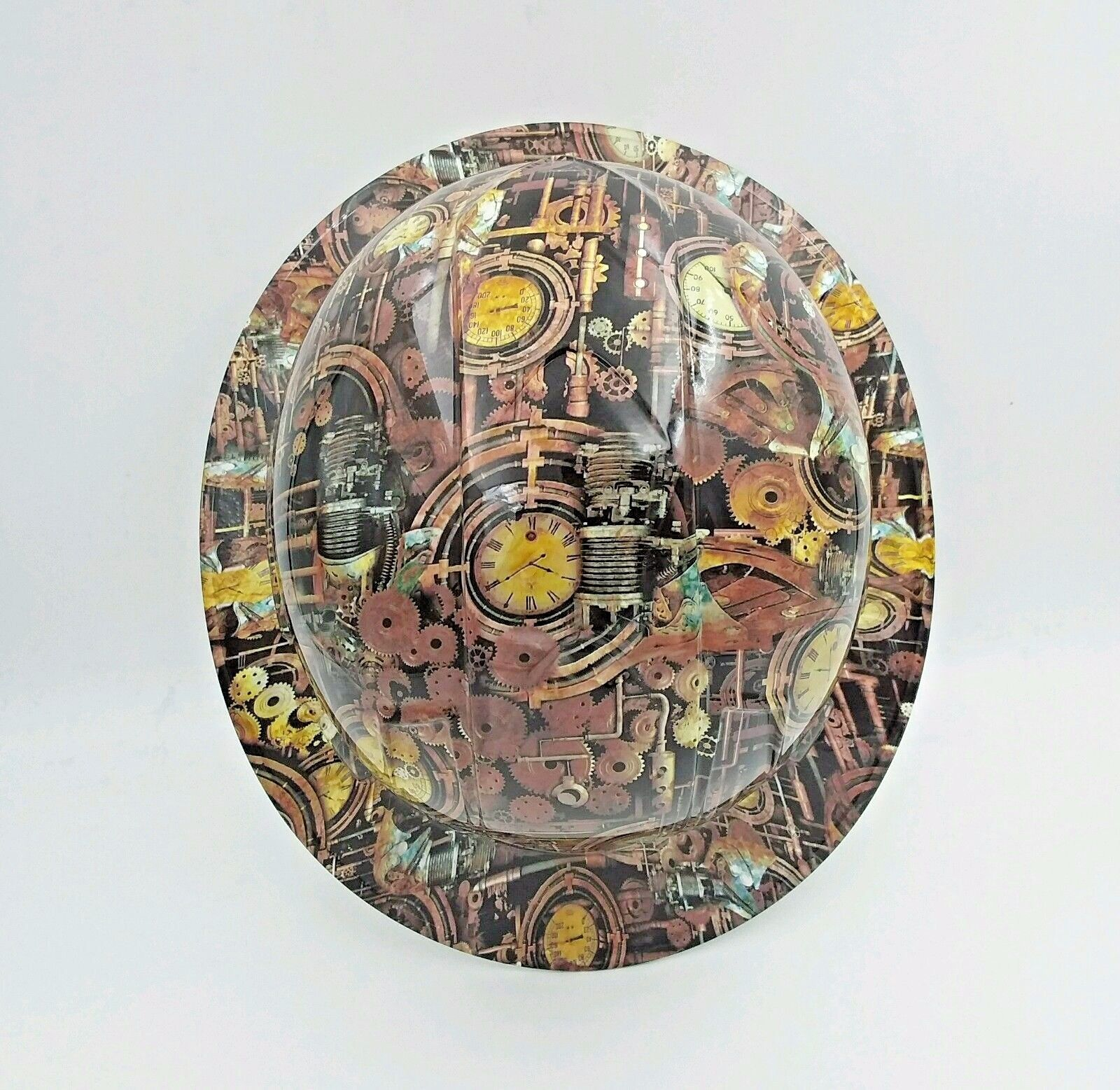 FULL BRIM Hard Hat custom hydro dipped , STEAM PUNK ,ENGINEERING CAMO 3