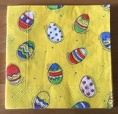 Herlitz Tissue Papier Servietten Ostern Eier Tisch Deko Gelb 33 x 33 cm 3-lagig ()