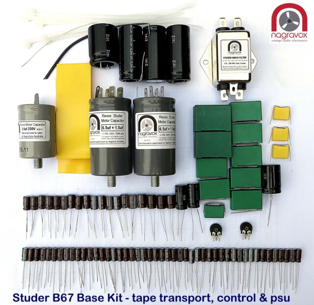 Studer B67 ESSENTIAL tape recorder capacitor & suppression service overhaul kit