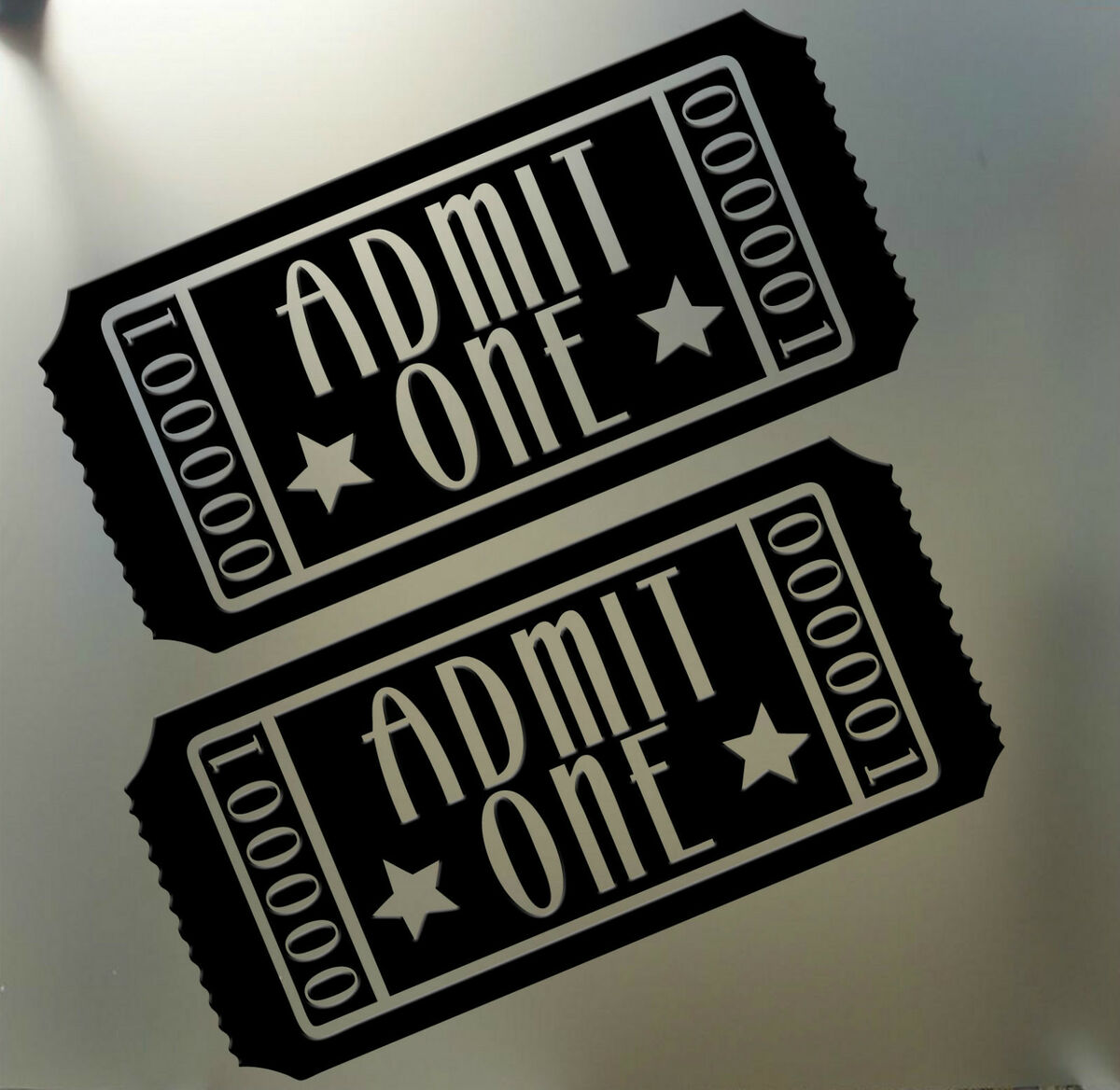 Home Theater Movie Tickets Admit One Vinyl Wall Art Decal Sticker
