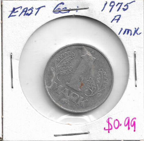 1975 A East Germany 1 Mark coin