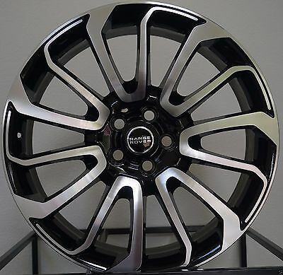 "22"" Range Rover Autobiography Wheels HSE Sport Land Rover Machine Black Rims"