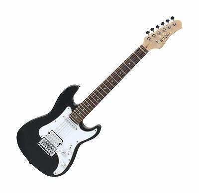 Guitarra Eléctrica 3/4 Junior Niño 8-14 Años Palisandro Pick-Up Tremolo Negro