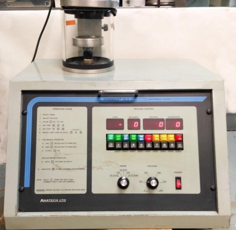10538 Anatech Sputtering System Hummer 10.2
