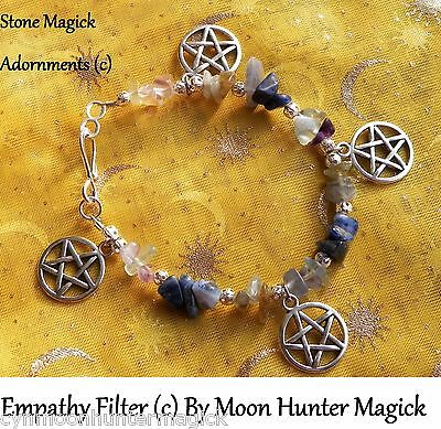 Energy Filter Empathy Shield© Stone Spell Bracelet Reiki Crystal Healing Pagan