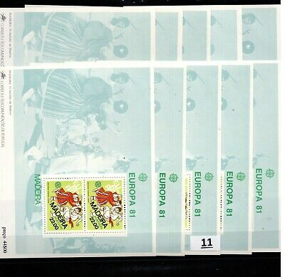 / 10X PORTUGAL - MNH - COSTUMES - MADEIRA - EUROPA CEPT 1981