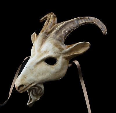 Mask Venetian Goat Goatee in Paper Mache Fancy Dress Carnival Venice - 1730