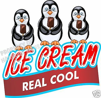 Ice Cream Real Cool Decal 14 Bars Concession Food Truck Cart Vinyl Menu Sticker