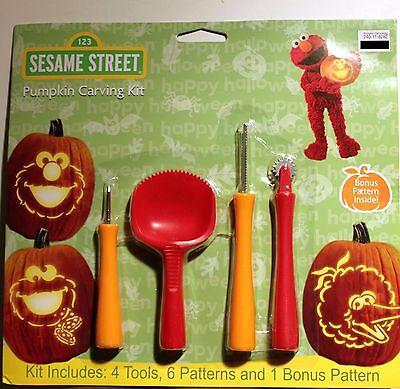 Sesamstraße Pumpkin Carving Kit Werkzeug Muster Halloween Set Big Bird Elmo Neu
