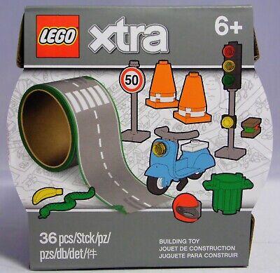 LEGO Xtra 854048 Straßen-Klebeband Leitkegel Ampel Motorroller Schlange Helm NEU