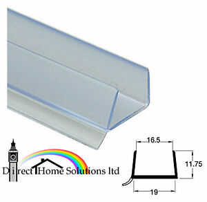 3 X PLINTH SEALING STRIP CLEAR 18-19mm panel 3050mm  FREE NEXT DAY DELIVERY