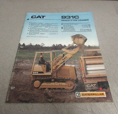 Cat Caterpillar 931c Track-type Loader Specification Brochure Manual Aehq0402