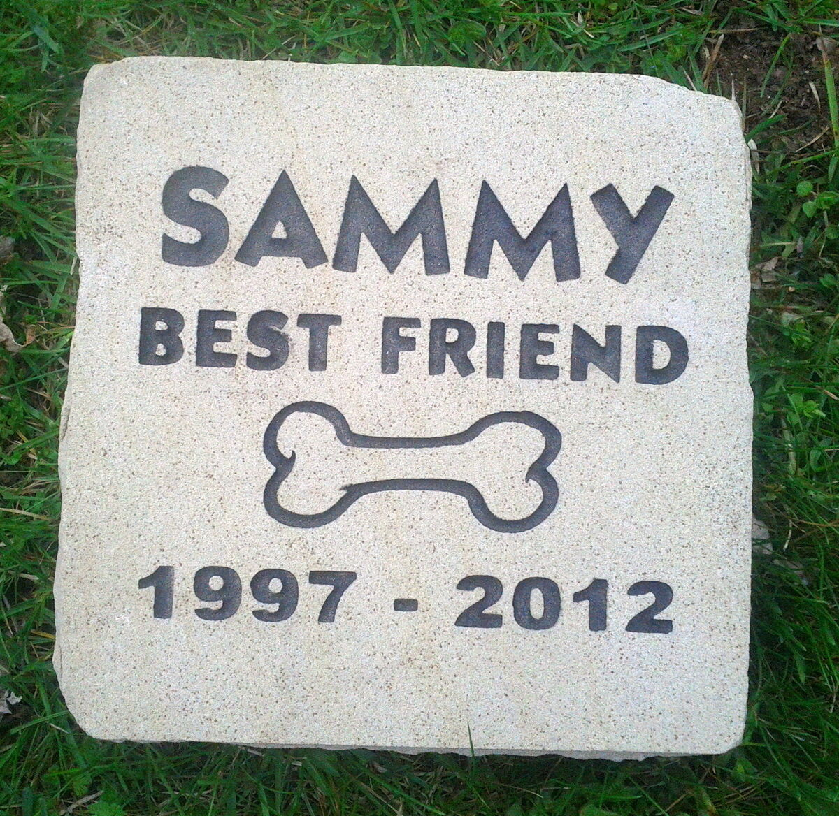 Personalized Pet Memorial Grave Marker Garden Stone Engraved
