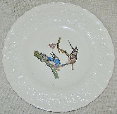 Alfred Meakin BIRDS OF AMERICA Embossed Floral Rim DINNER PLATE Pigeon #62