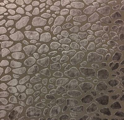 Ballard Designs Leopard Velvet Taupe Furniture Cushion Fabric By The Yard 56 W