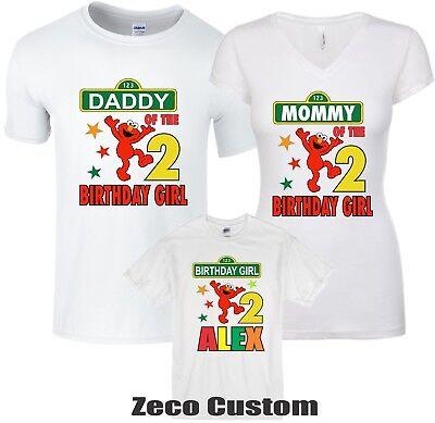 Elmo birthday Girl T-shirt personalized Custom age, name family Cool Shirts](Elmo Girl)