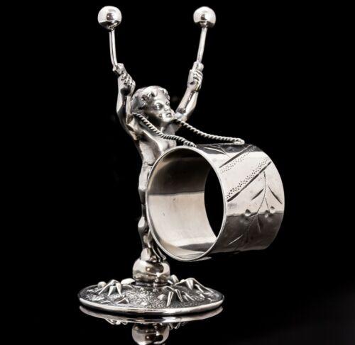 Victorian Figural Napkin Ring Drummer Boy Meriden #159