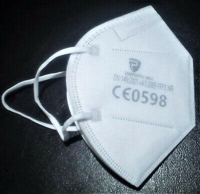 10x FFP2 Atemschutzmaske Filtermaske Maske Mund & Nasenmaske Euro-Einheitsgröße