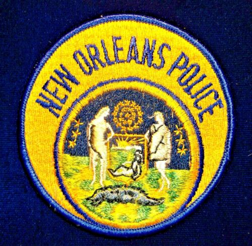 GEMSCO NOS Vintage Patch - POLICE NEW ORLEANS LA - 40+ year old