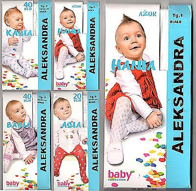 Süße festliche Baby Mädchen Muster-Strumpfhose weiß creme Taufe Hochzeit 56-98