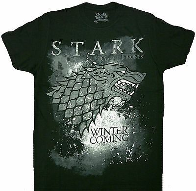 HBO'S Game of Thrones Winter Is Coming Stark Adult T-Shirt - Officially Licensed](Hbo Adult)