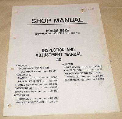 Kawasaki 65zii Wheel Loader Inspection Adjustment Shop Manual Isuzu 6bg1