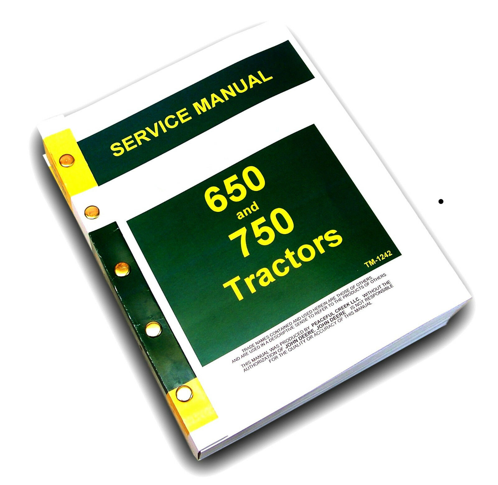 Complete Factory Service Manual, Covers entire tractor.