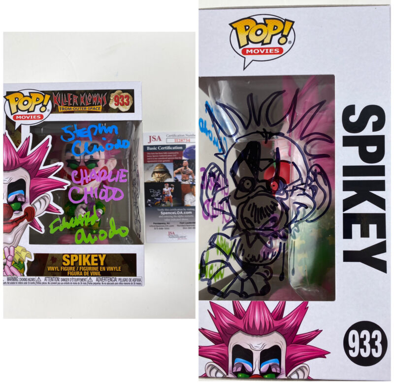 The Chiodo Brothers signed & Sketched Funko POP SPIKEY Killer Klowns Outer Space