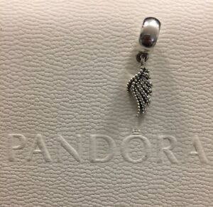 Pandora Charms and Black Leather Pandora Bracelet
