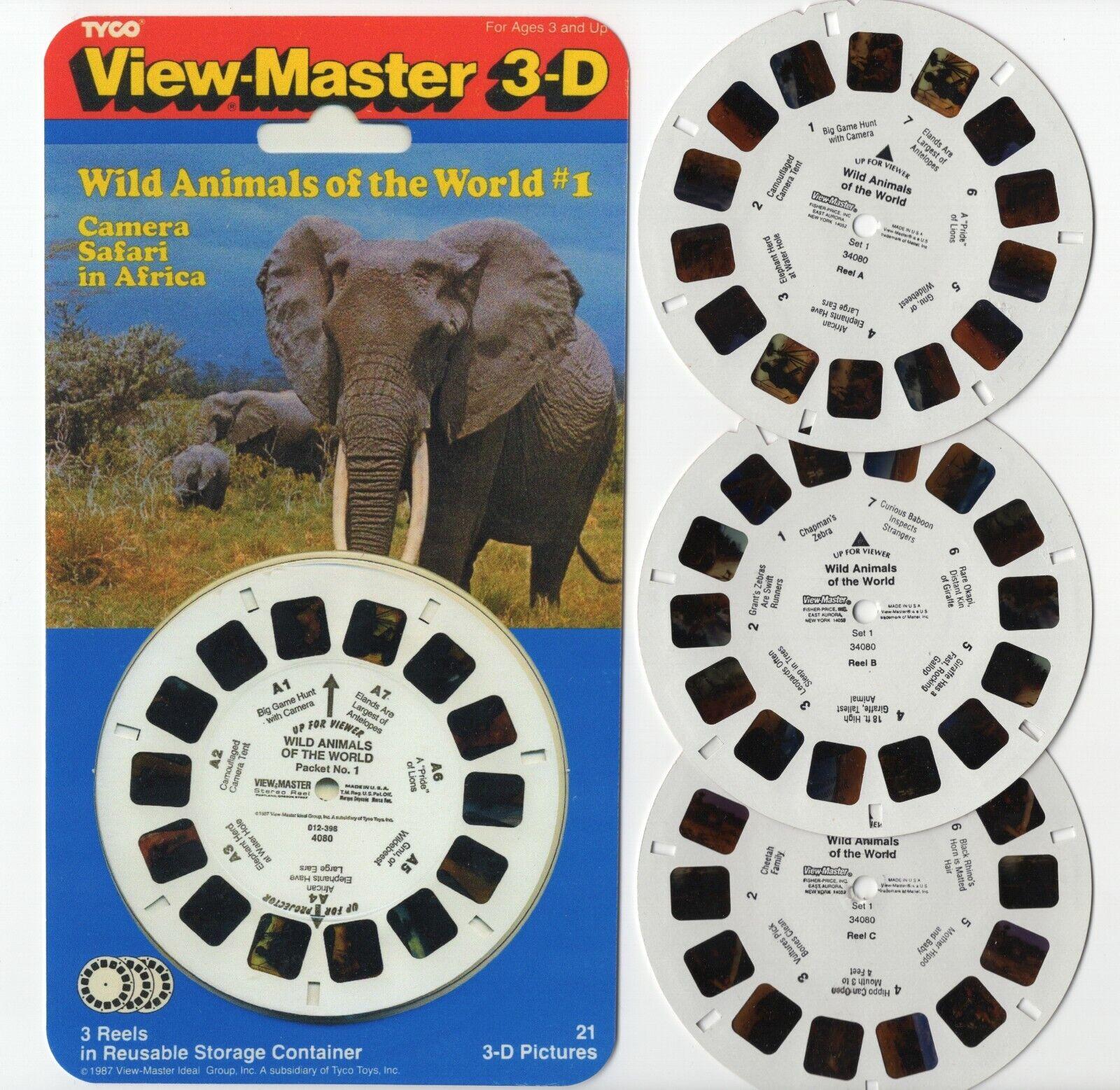 Kamera Safari IN Africa Wildtiere Von World Viewmaster Test Rollen + Kopie Cover