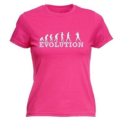 Women's Evolution Baseball Funny Joke Sports Sport Base Bat FITTED T-SHIRT ()