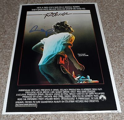 """FOOTLOOSE PP SIGNED 12"""" X 8"""" A4 PHOTO POSTER KEVIN BACON"""