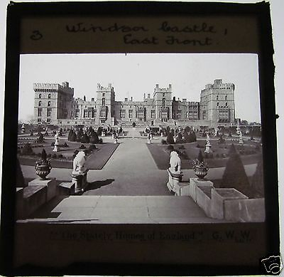 Glass Magic Lantern Slide WINDSOR CASTLE EAST FRONT C1900