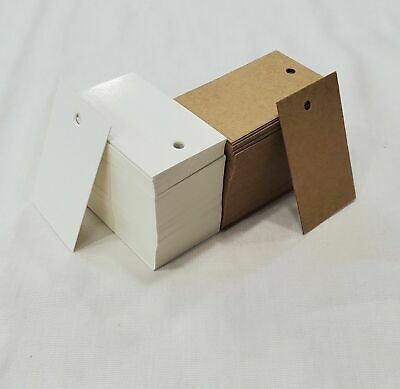 Unstring Gift Hang Tags Price Inventory Cardstock Tags In White Or Kraft 100 Pcs