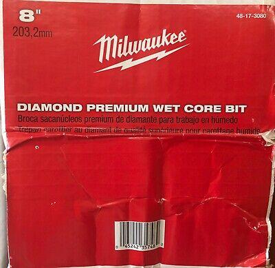 Milwaukee 48-17-3080 8 In. Premium Diamond Wet Core Bit New