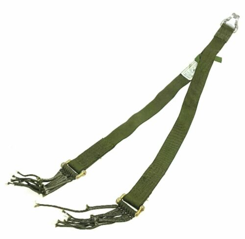 RISER MC1 PARACHUTE T-10 HARNESS WITH SHACKLES OD GREEN BELT SLING AIRCRAFT USA