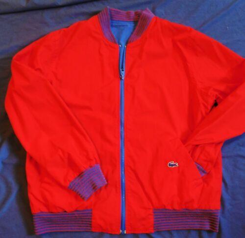 Izod Lacoste vintage reversible red blue jacket sz Lg