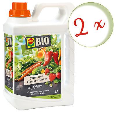 Sparset: 2 X Compo Bio Frutales y Abono Vegetal, 2,5 Litros