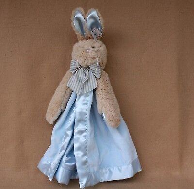 Bearington Bears Bunny Tail Blue Bunny Snuggler Extra Soft Baby Blanket