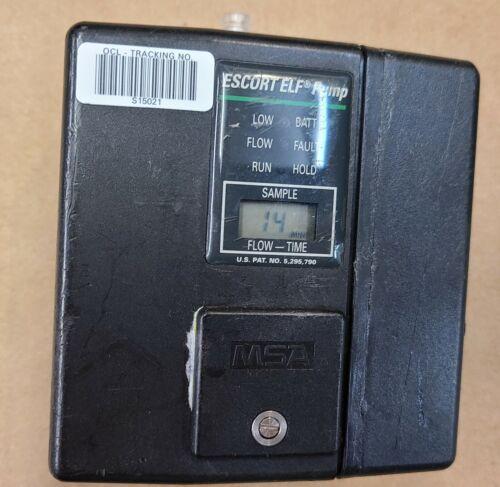 MSA Escort ELF Air Sampling Pump # 497701 Includes Zefon Battery pack # 10087242