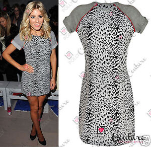 Womens-Celeb-Style-Leopard-Animal-Print-Tribal-Shift-Ladies-Bodycon-Tshirt-Dress