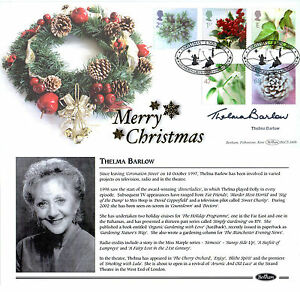5-NOVEMBER-2002-CHRISTMAS-BENHAM-FIRST-DAY-COVER-SIGNED-THELMA-BARLOW