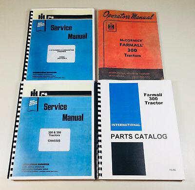Farmall 300 Tractor Gas Engine Service Parts Operator Manual Shop Set