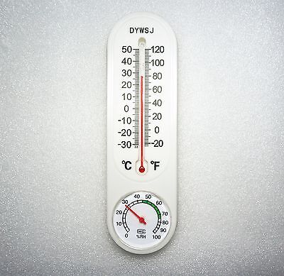 Big Indoor Outdoor Wall Hygrometer Humidity Thermometer Temperature Meter Brand