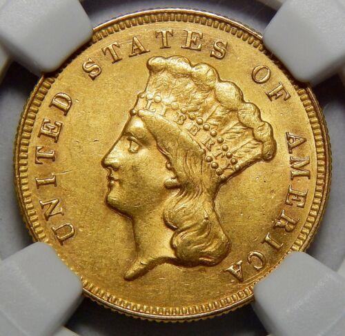 1874 NGC AU58 THREE DOLLAR GOLD