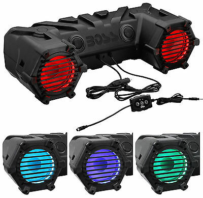 "Boss ATV30BRGB 450W ATV/​Off Road/Marin​e Dual 6.5"" Speaker System w LED Lights"
