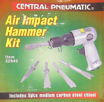 Central Pneumatic 32940 Air Impact 150mm Hammer Kit Airchisel